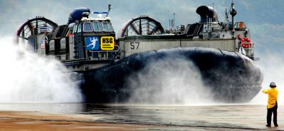 Copyright: http://www.pcdesktopwallpaper.com/wallpapers-military/Hovercraft-LCAC-018.jpg.html